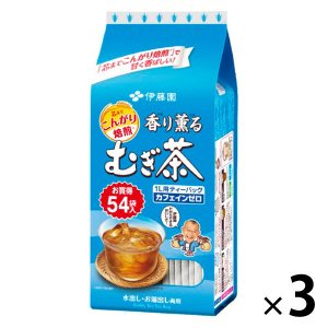 水出し可 伊藤園 香り薫るむぎ茶 ティーバッグ 1セット(162バッグ:54バッグ入×3袋)