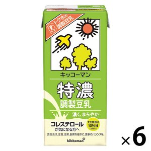 キッコーマン飲料 特濃調製豆乳 1000ml 1箱(6本入)