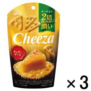 江崎グリコ 生チーズのチーザ チェダーチーズ 1セット(3個)