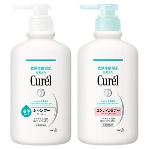 Curel(キュレル) シャンプー ポンプ 420mL+コンディショナー ポンプ 420mL 花王 ...