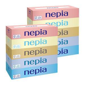 ティッシュペーパー 150組(5箱入) 1セット(2パック) ネピアティシュ 王子ネピア