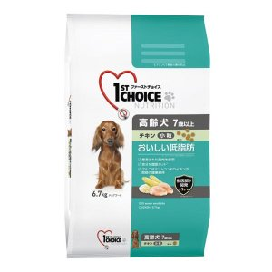 ファーストチョイス おいしい低脂肪 7歳以上の高齢犬用 おいしい低脂肪 チキン 小粒 6.7kg 1袋 アース・ペット ドッグフード ドライ LOHACO PayPayモール店