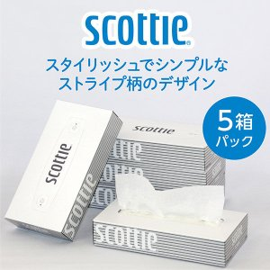 ティッシュペーパー スコッティティシュー 200組(5箱入) 1セット(2パック) 日本製紙クレシア|y-lohaco|02