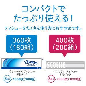 ティッシュペーパー スコッティティシュー 200組(5箱入) 1セット(2パック) 日本製紙クレシア|y-lohaco|04