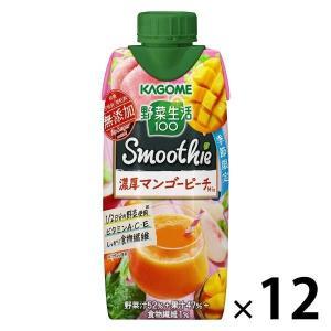 カゴメ 野菜生活100 マンゴーピーチスムージーミックス 330ml 1箱(12本入)|y-lohaco