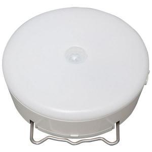 アイリスオーヤマ 乾電池式LED屋内センサーライト マルチタイプ 白 BSL40MN-W(566915) 1個