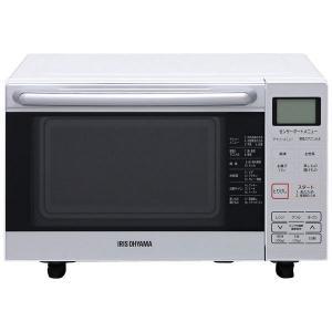 オーブンレンジ アイリスオーヤマ MO-F1801 フラットテーブル 18L ホワイト|y-lohaco