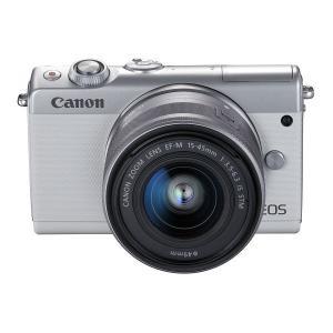 デジタルカメラ キヤノン EOS M100  2210C034 1 ホワイト ダブルレンズキット 1...
