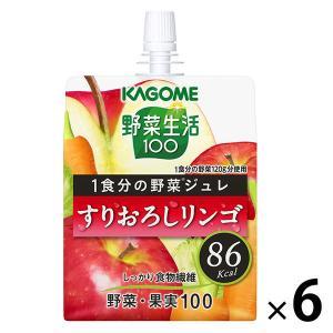 カゴメ 野菜生活100 1食分の野菜ジュレすりおろしリンゴ 180g 1セット(6個)|y-lohaco