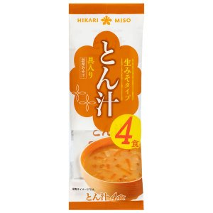 インスタント味噌汁 ひかり とん汁 1セット(4食入×3袋) ひかり味噌