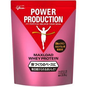 パワープロダクション MAXLOAD(マックスロード)ホエイプロテイン 1袋(3.5kg) ストロベリー味 江崎グリコ|y-lohaco