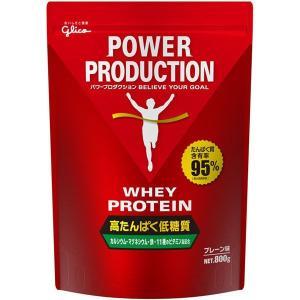パワープロダクション ホエイプロテイン プレーン味 1袋(800g) 江崎グリコ|y-lohaco
