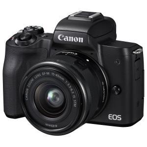 デジタルカメラ キヤノン EOS KISS M EOSKISSMBK-WZK ミラーレス 一眼カメラ ダブルズームキット ホワイト Canon|y-lohaco|02