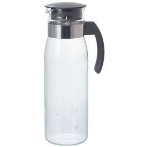 HARIO 耐熱ガラス製 冷水筒 ポット ピッチャー スリムN チャコールグレー 1400ml RPLN-14-CGR 1個|LOHACO PayPayモール店