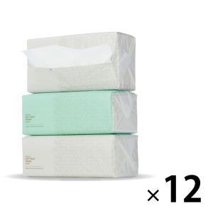 ティッシュペーパー 300組(3個入)×12パック オリジナルソフトパックティッシュ ロイヤルオーシャン レギュラーサイズ(PEFC認証紙) 1ケース(36個|y-lohaco