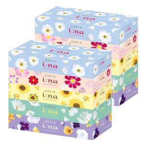 ティッシュペーパー 150組(5箱入) 1セット(2パック)エリエールイーナボックスティッシュ 大王製紙