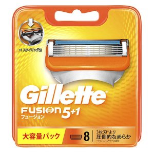 ジレット フュージョン 5+1 髭剃り 替刃8個入