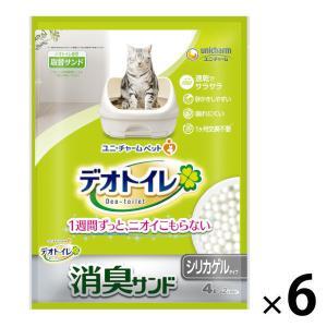 箱売り デオトイレ 1週間消臭・抗菌デオサンド 4L 6袋 ユニ・チャーム|y-lohaco