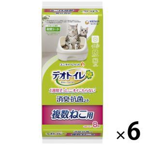 デオトイレ 複数ねこ用 1週間消臭・抗菌シート 8枚×6袋 ユニ・チャーム