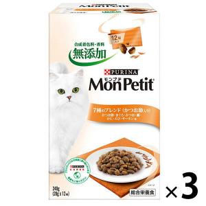 モンプチ(MonPetit)猫用 ボックス 7種のブレンドかつお節入り 240g 3個 ネスレ日本