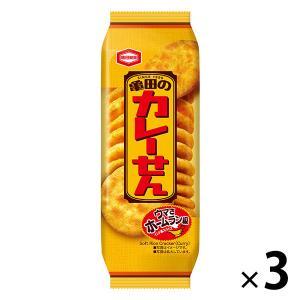 亀田製菓 亀田のカレーせん 18枚 1セット(3袋入)|y-lohaco