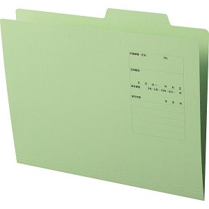 アスクル 個別フォルダー A4 PPラミネートタイプ 1山 グリーン 緑 10枚