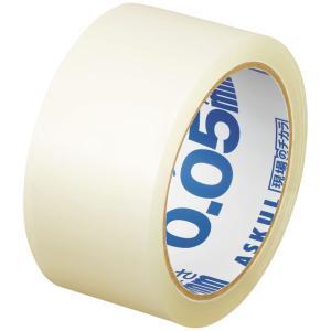 「現場のチカラ」 OPPテープ 透明梱包用テープ 0.05mm厚 48mm×50m アスクル 1巻
