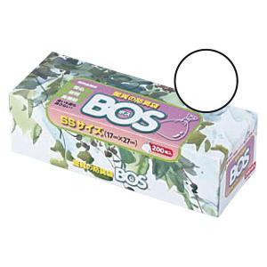 クリロン化成 驚異の防臭袋BOS箱型 SSサイズ BOS-2504 1箱(200枚入)