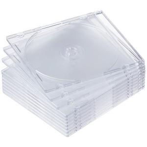 アスクル CD/DVDプラスチックケース 1パック(10枚入)