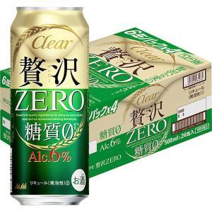 アサヒビール アサヒ クリアアサヒ 贅沢ゼロ 500ml 24缶|y-lohaco