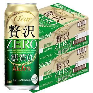 アサヒビール アサヒ クリアアサヒ 贅沢ゼロ 500ml 48缶|y-lohaco