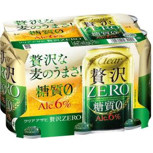 アサヒビール アサヒ クリアアサヒ 贅沢ゼロ 350ml 6缶|y-lohaco