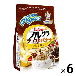 カルビー フルグラ チョコクランチ&バナナ 700g 1セット(6袋)|y-lohaco