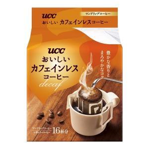 ドリップコーヒー UCC上島珈琲 おいしいカフェインレスコーヒードリップコーヒー 1パック(18袋入)の画像
