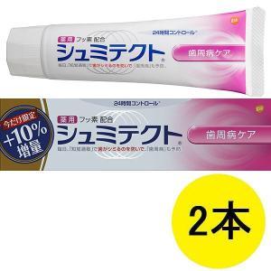 薬用シュミテクト 歯周病ケア 増量品 99g 1セット(2本) グラクソ・スミスクライン 歯磨き粉