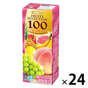 【アウトレット】エルビー Fruits Selection フルーツセブン 200ml 24006 1箱(200ml×24本入)|LOHACO PayPayモール店