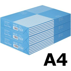 コピー用紙 マルチペーパー スーパーホワイト+ A4 1セット(1500枚:500枚入×3冊) 高白...