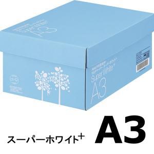 コピー用紙 マルチペーパー スーパーホワイト+ A3 1箱(2500枚:500枚入×5冊) 高白色 ...