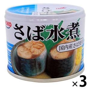 アウトレット 宝幸 さば水煮 1セット(190g×3缶) 国産さば 国内製造