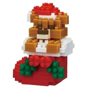 クリスマス おもちゃ  ワゴンセール ナノブロック クリスマステディベア (対象年齢:12歳以上) ...