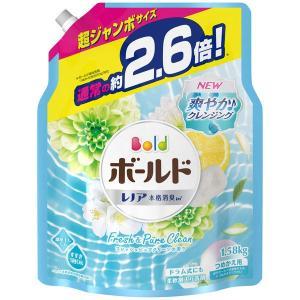 ボールドジェル フレッシュピュアクリーンの香り 詰め替え 超ジャンボ 1.58kg 1個 洗濯洗剤 ...