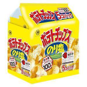 コイケヤ(湖池屋) ポテトチップス のり塩 5個パック 1袋