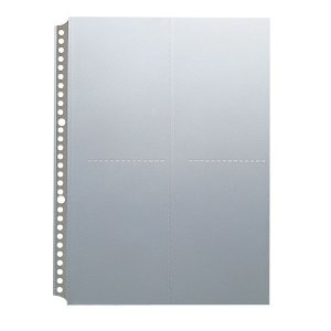 キングジム 葉書ホルダー台紙 A4タテ型 サイドインタイプ 65PD 1パック(10枚入)
