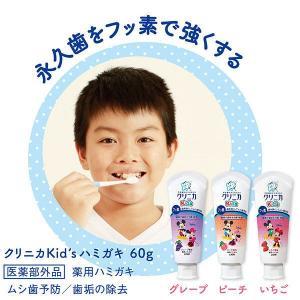 クリニカKidsハミガキ ジューシーグレープ ライオン 歯磨き粉(子供用)|y-lohaco|04