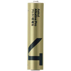 アスクル ハイパワーアルカリ乾電池PRO 単4形 LR03PRMI(4S)ASK 1箱(40本:4本...