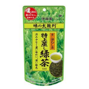 伊藤園 味の太鼓判 特上蒸し緑茶500 1袋(100g)