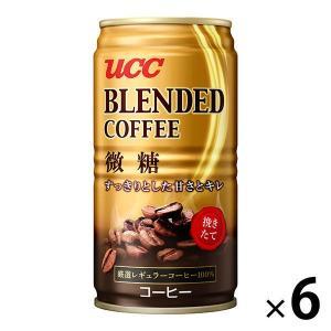 UCC ブレンドコーヒー微糖 185g 1セット 6缶|y-lohaco