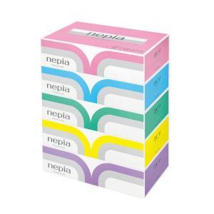ティッシュペーパー 高品質 180組(5箱入) ネピアプレミアムソフト 王子ネピア|y-lohaco