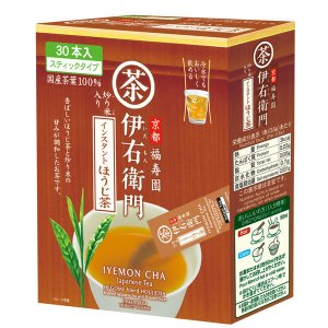 宇治の露製茶 伊右衛門 インスタントほうじ茶スティック 1箱(30本入)
