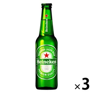 ハイネケン ロングネック瓶 330ml 1セット(1本×3) キリンビール|y-lohaco